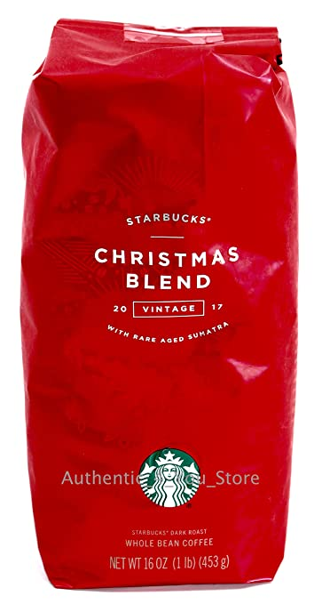2017 starbucks christmas blend whole bean coffee 1 pound bag