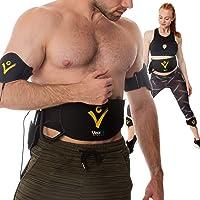VEOFIT buikspierriem, EMS-buiktrainer om af te vallen, versterkt en verstevigt de buik, rug, armen, dijen, kuiten, met…