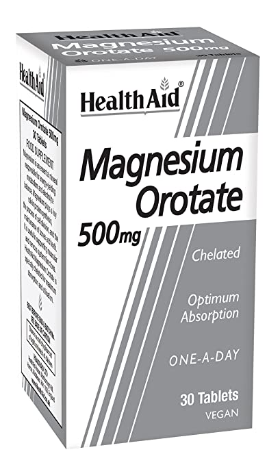 HealthAid Magnesium Orotate 500mg - 30 Tablets