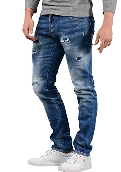 DSQUARED2 Jeans - Mens S71LB0447 Cool Guy Jean in Denim Blue