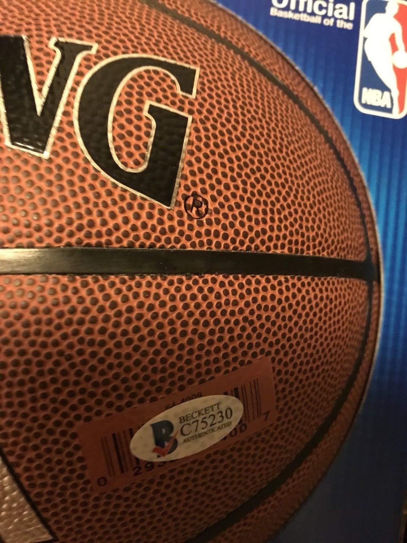 Devin Booker Phoenix Suns Autographed Signed Basketball Beckett Bas