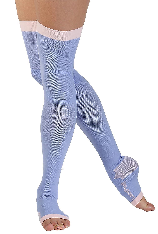 Lace Poet - Calcetines de compresión para yoga/sueño, varios colores: Amazon.es: Amazon.es
