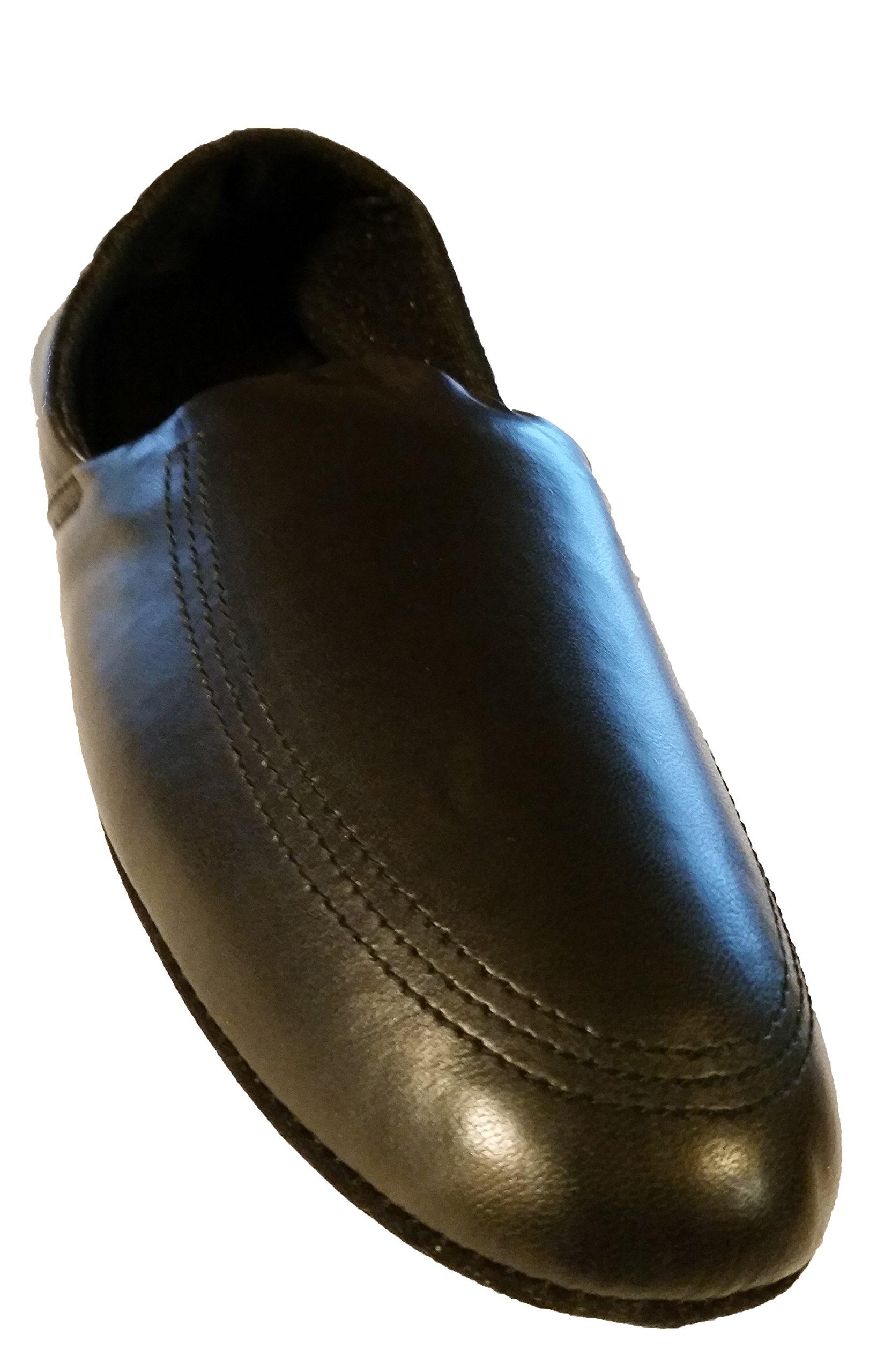 Easy USA Mens House Slippers (9, Black)