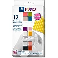 STAEDTLER-8023 C12-5ST Pasta de modelar de endurecimiento al horno, Color fashion-farben, 12 Halbblöcke (8023 C12-5…