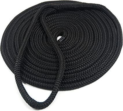 "Boat Mooring Line Navy 2 NEW 3//8/"" x 15/' Double Braid Nylon Dock Line"