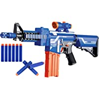 Popsugar Battery Operated Machine Gun Blaze Storm Gun with 20 Foam Bullets for Kids,