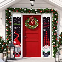 Tatuo Christmas Outdoor Porch Signs Christmas Hanging Banners Welcome Merry Christmas Porch Signs Gnome Xmas Door…