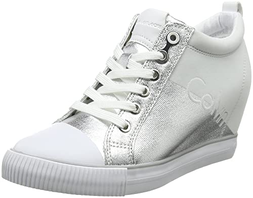 Womens Rory Metal Canvas/Flocking Hi-Top Trainers Calvin Klein Jeans wcSFn3sKIi
