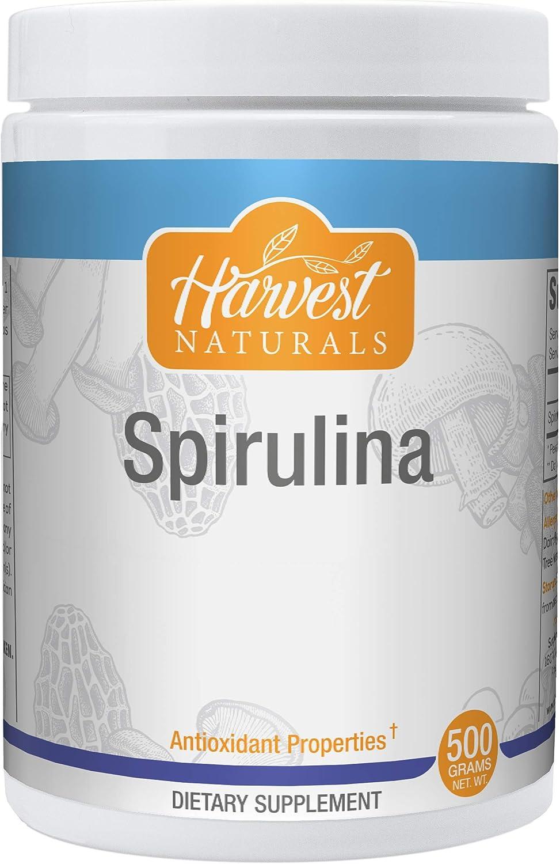 Spirulina Powder - Antioxidant Properties & Blue-Green Algae Superfood - 500 Grams - Harvest Naturals