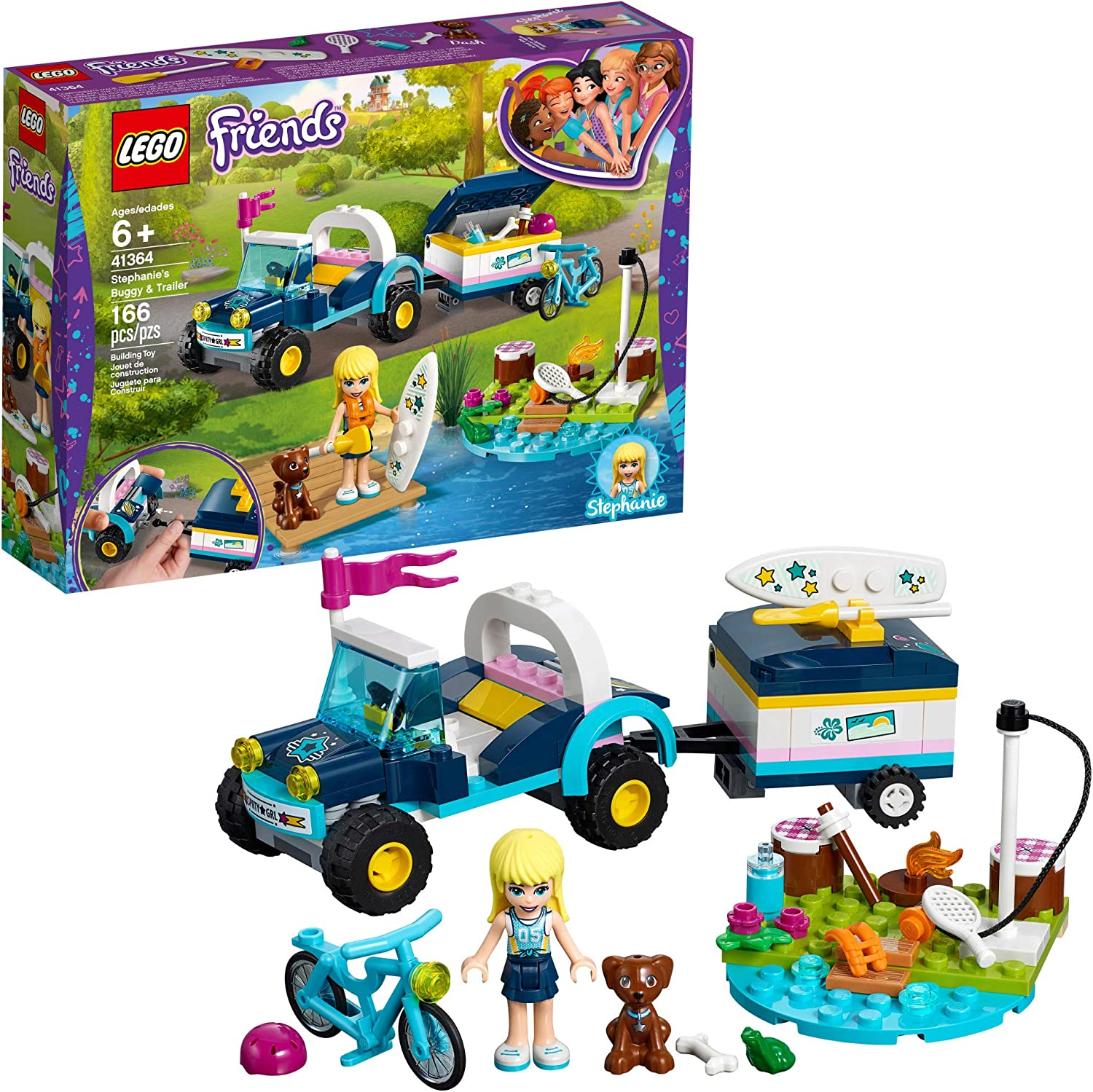 LEGO Friends Stephanie's Buggy & Trailer 41364 Building Kit (166 Pieces)