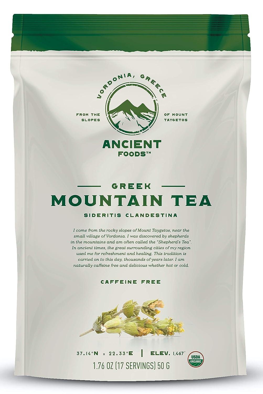 Ancient Foods - Fresh Mountain Tea Organic | Greek Mountain Tea | Organic Mountain Leaf Tea - 17 servings