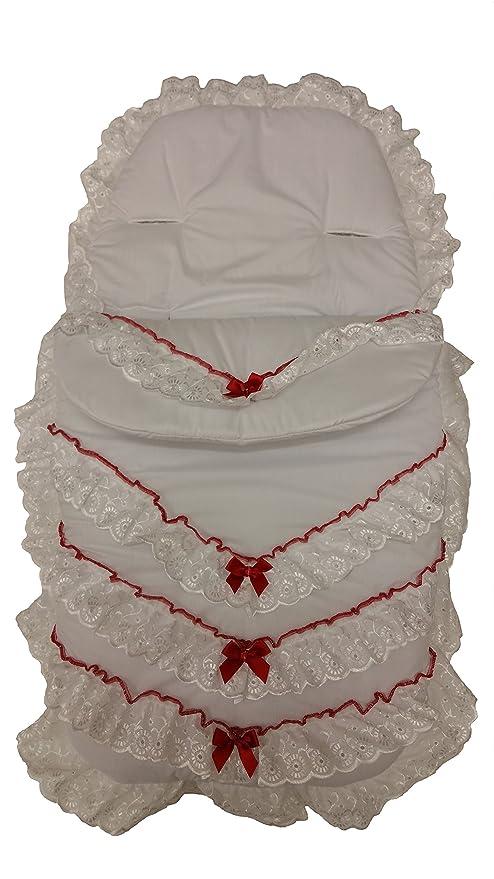 Lujo británico hecho universal color blanco), diseño con bordado ...