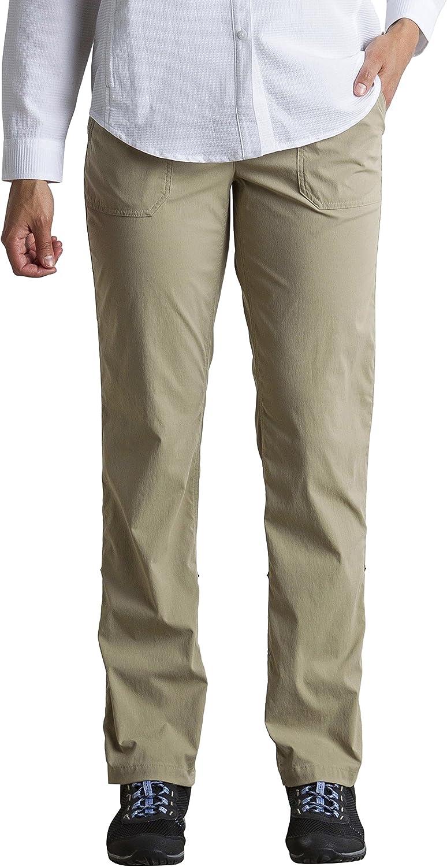 ExOfficio Women's BugsAway Vianna Lightweight Hiking Pants- Insect, Tick, Mosquito Repellent Permethrin Clothing (Petite)