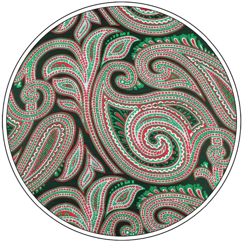 Shlax/&Wing Red Green Paisley Mens Pocket Square Silk Hanky Wedding New Design Unique