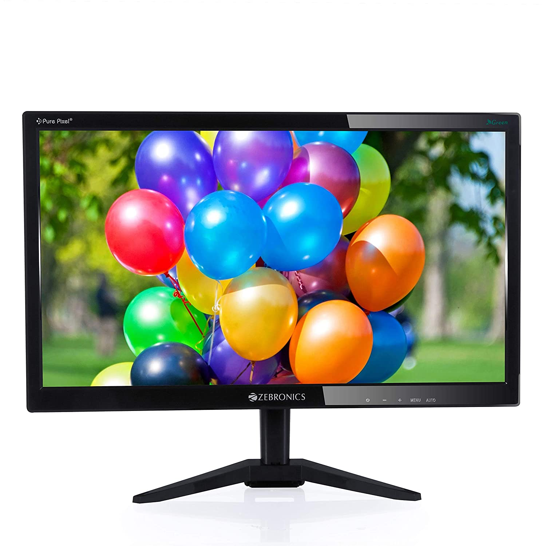 Zebronics 15 6 inch (39 6 cm) LED Backlit Computer Monitor - Full HD with  VGA, HDMI Ports - ZEB-A16FHD LED (Black)