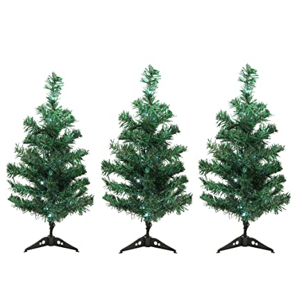 Northlight Set of 3 LED Lighted Christmas Tree Driveway or Pathway Markers  Outdoor Decorations - Amazon.com: Northlight Set Of 3 LED Lighted Christmas Tree Driveway