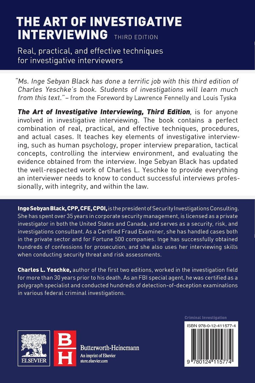 The Art of Investigative Interviewing by Butterworth-Heinemann