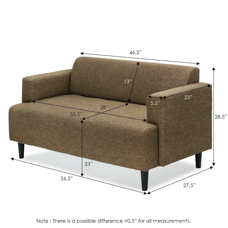 Amazon.com: furinno Simply Home moderno tela sofá cama ...