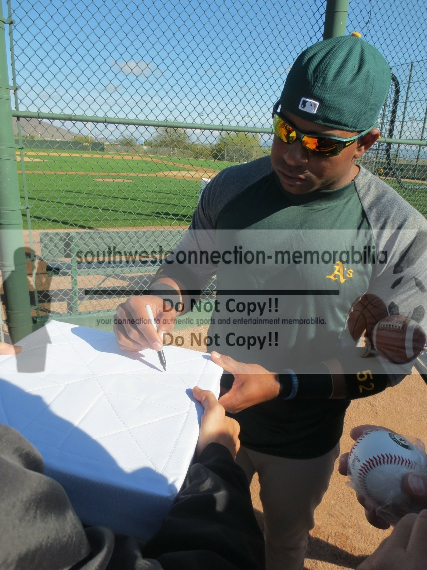 Oakland Athletics Yoenis Cespedes Autographed Hand Signed 2014 MLB All Star Game Baseball Full Size Base with Proof Photo of Signing and COA Oakland A's Collectibles