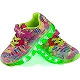 Shinmax LED Chaussures, Printemps-Été-Automne Respirante Lumineuse Chaussure USB Rechargeable enfant LED Basket Clignotants Chaussures Avec CE Certificat pour Fille Et Garçon