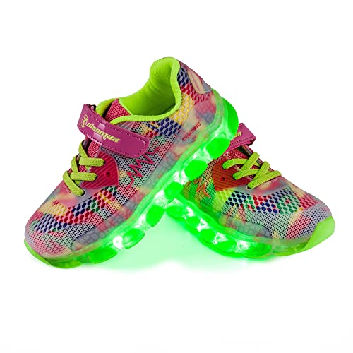 LED Zapatos,Shinmax Primavera-Verano-Otoño Transpirable Zapatillas LED 7 Colores Recargables Luz