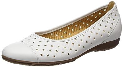 Gabor Shoes Fashion, Zapatos de Tacón para Mujer, Blanco (Weiss 21), 38 EU