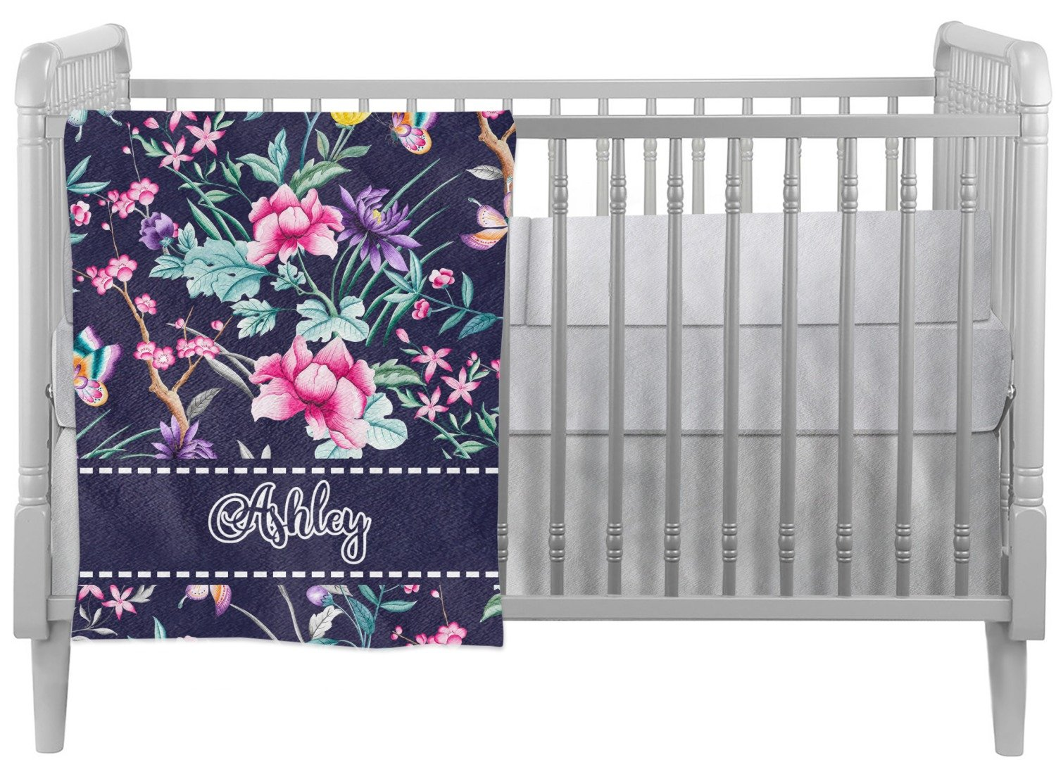 Chinoiserie Crib Comforter / Quilt (Personalized)