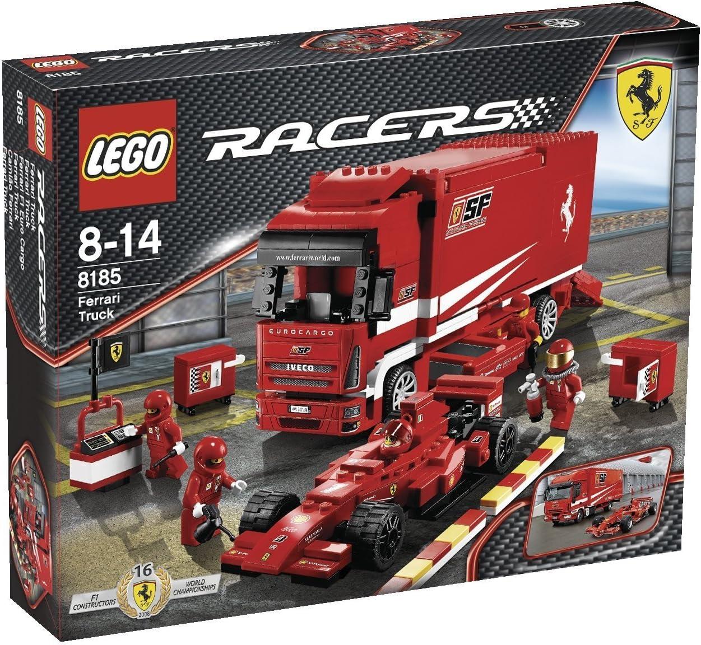 Amazon Com Lego Racers Ferrari F1 Cargo 8185 Toys Games