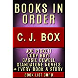 CJ Box Books in Order: Joe Pickett series, Joe Pickett short stories, Cody Hoyt series, all short stories, and standalone nov