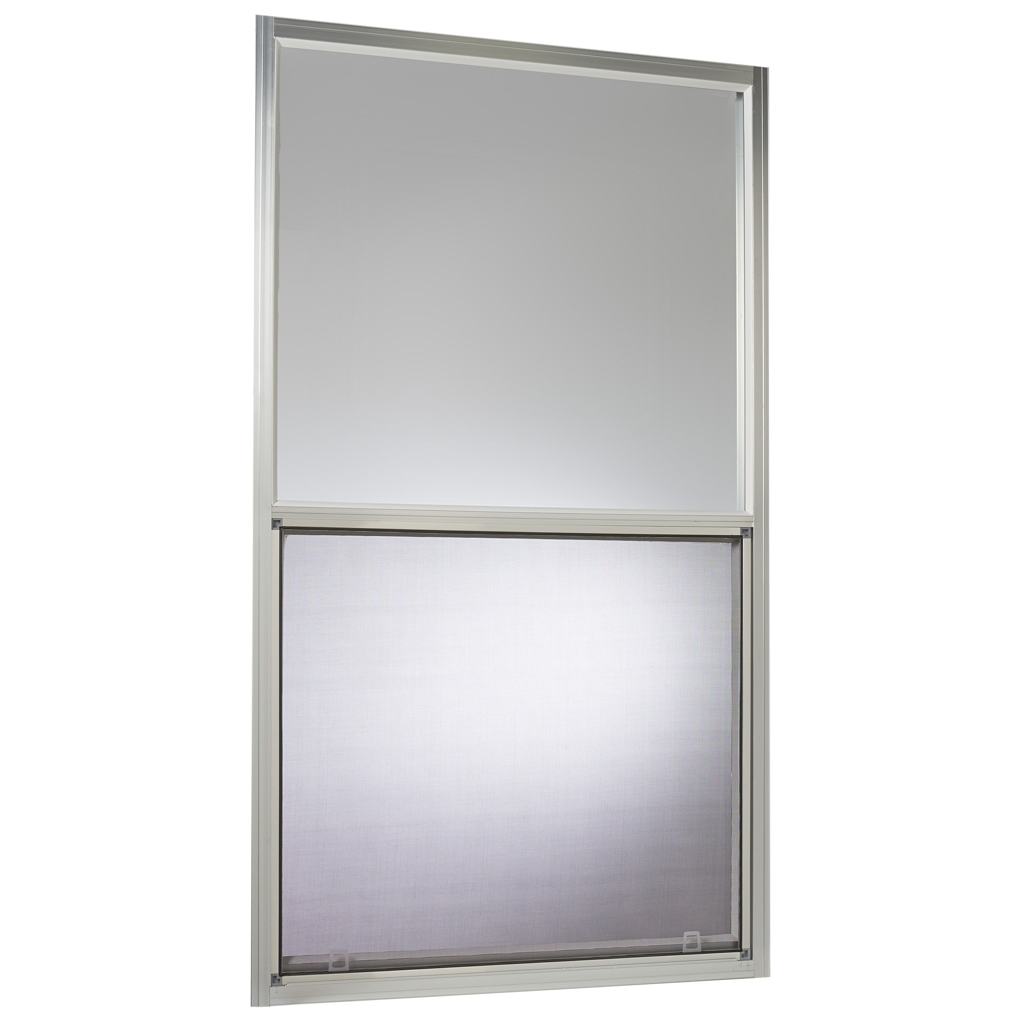 Park Ridge Products AMHMF3054PR Park Ridge Mill Finish 30 in. x 54 in. Aluminum Mobile Home Single Hung Window - Silver by Park Ridge Products