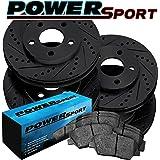 Fit 2013-2017 Honda Accord PowerSport Full Kit Brake Rotors+Ceramic Brake Pads