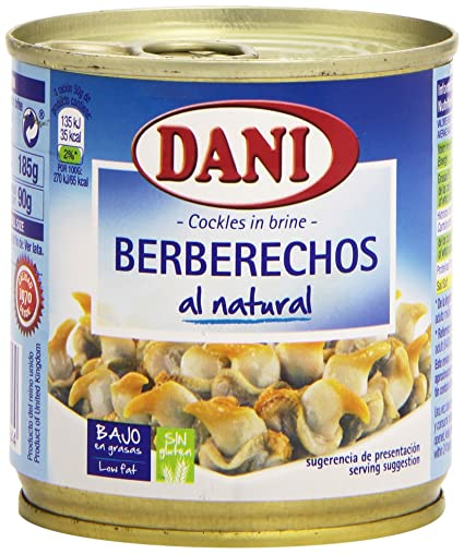 Dani Berberechos al Natural - 185 g: Amazon.es: Amazon Pantry