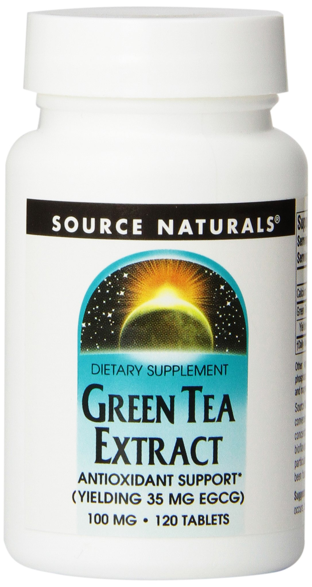 Source Naturals Green Tea Extract, 100 Mg, 120 Tablets