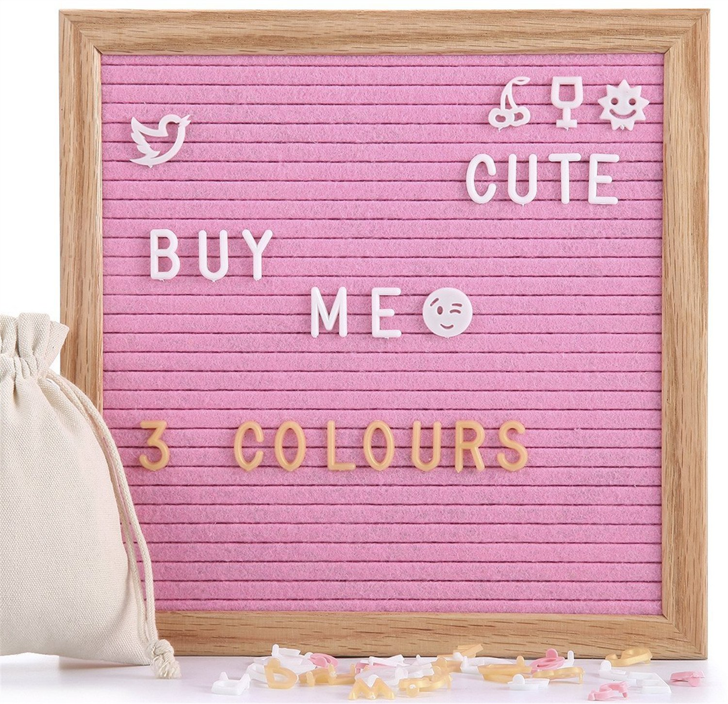 Felt Letter Board Christmas Emojis, 13 PCS Lovely Christmas Symbols for Felt Letter Board (Not Included Board and Letters) LifeEase