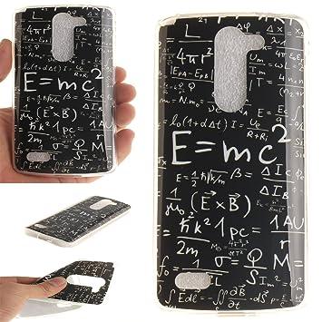 Qiaogle Teléfono Caso - Funda de TPU silicona Carcasa Case Cover para LG L Bello D331 D335 D337 (5.0 Pulgadas) - TX09 / Mathematical Formulas
