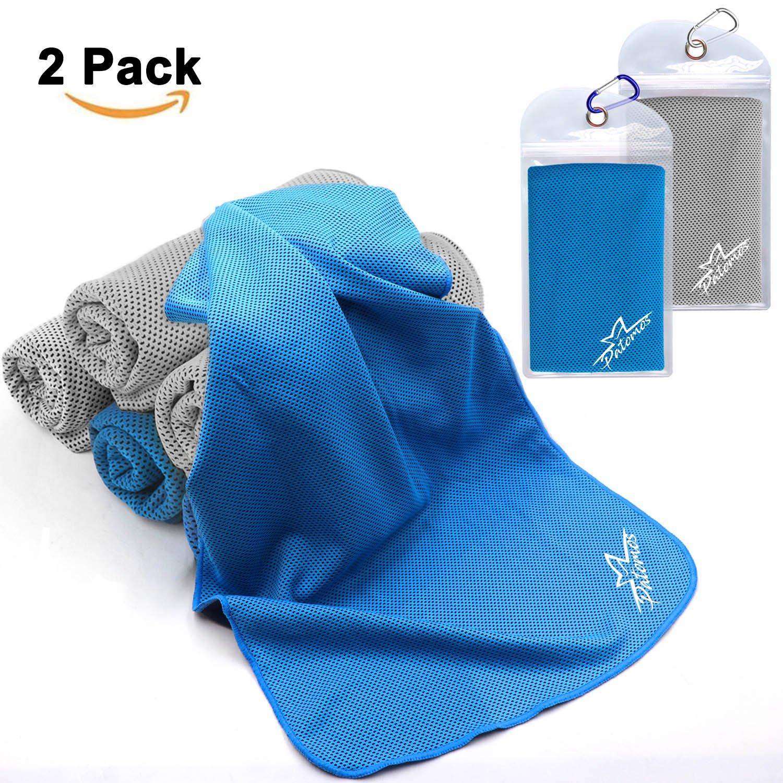 Toalla de Enfriamiento de Hiel Toalla de Microfibra Gimnasio Quick Dry Viaje//Camping Toalla 2 Pack
