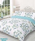 Stephanie Reversible Summer Butterfly King Bed Size Duvet Cover Set