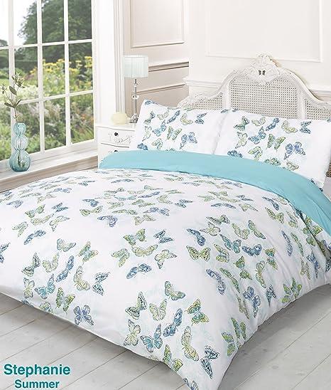 king size duvet sets. Stephanie Reversible Summer Butterfly Super King Bed Size Duvet Cover Set Sets E