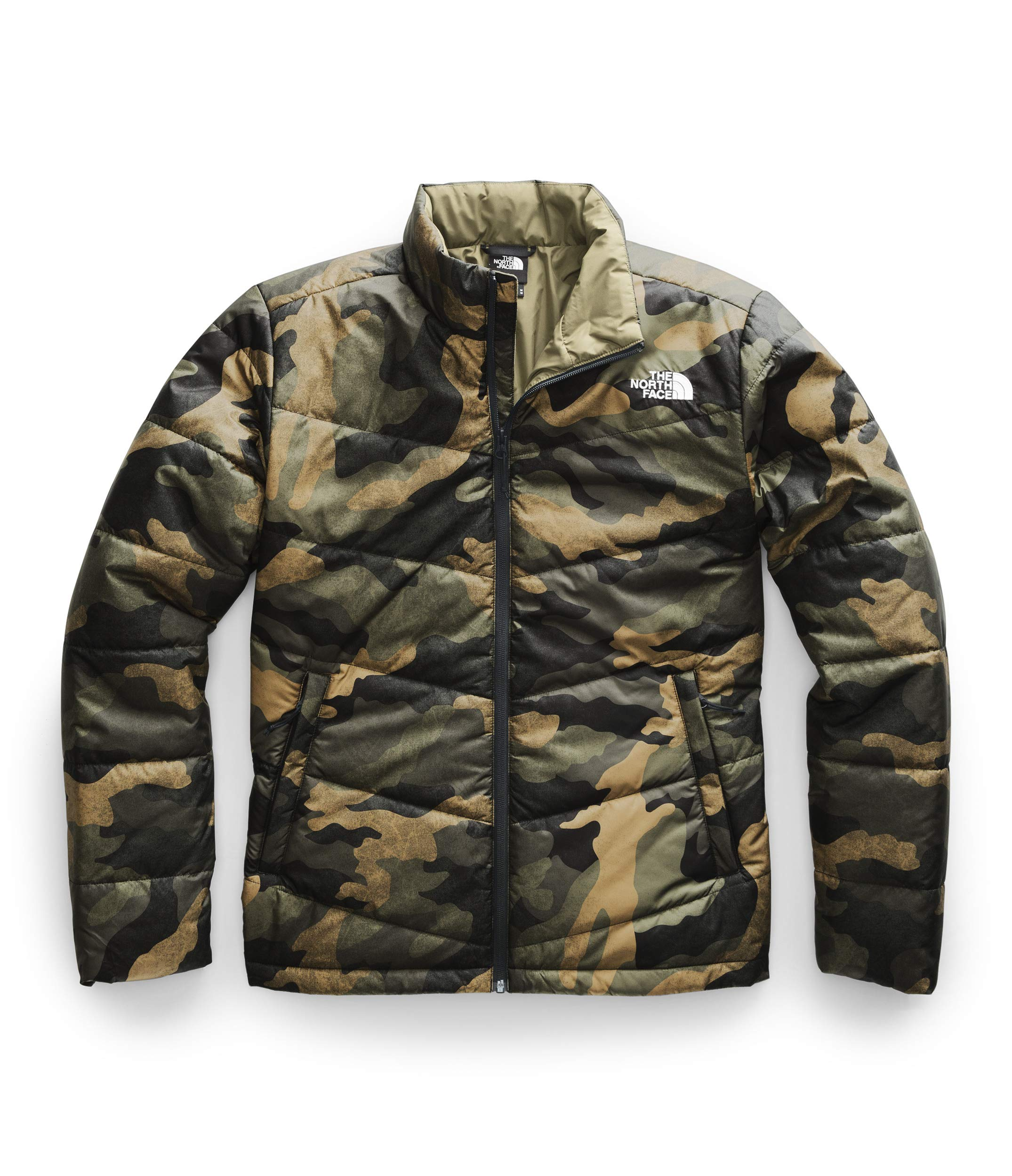 The North Face Men's Junction Insulated Jacket, Burnt Olive Green Waxed Camo Print, M by The North Face