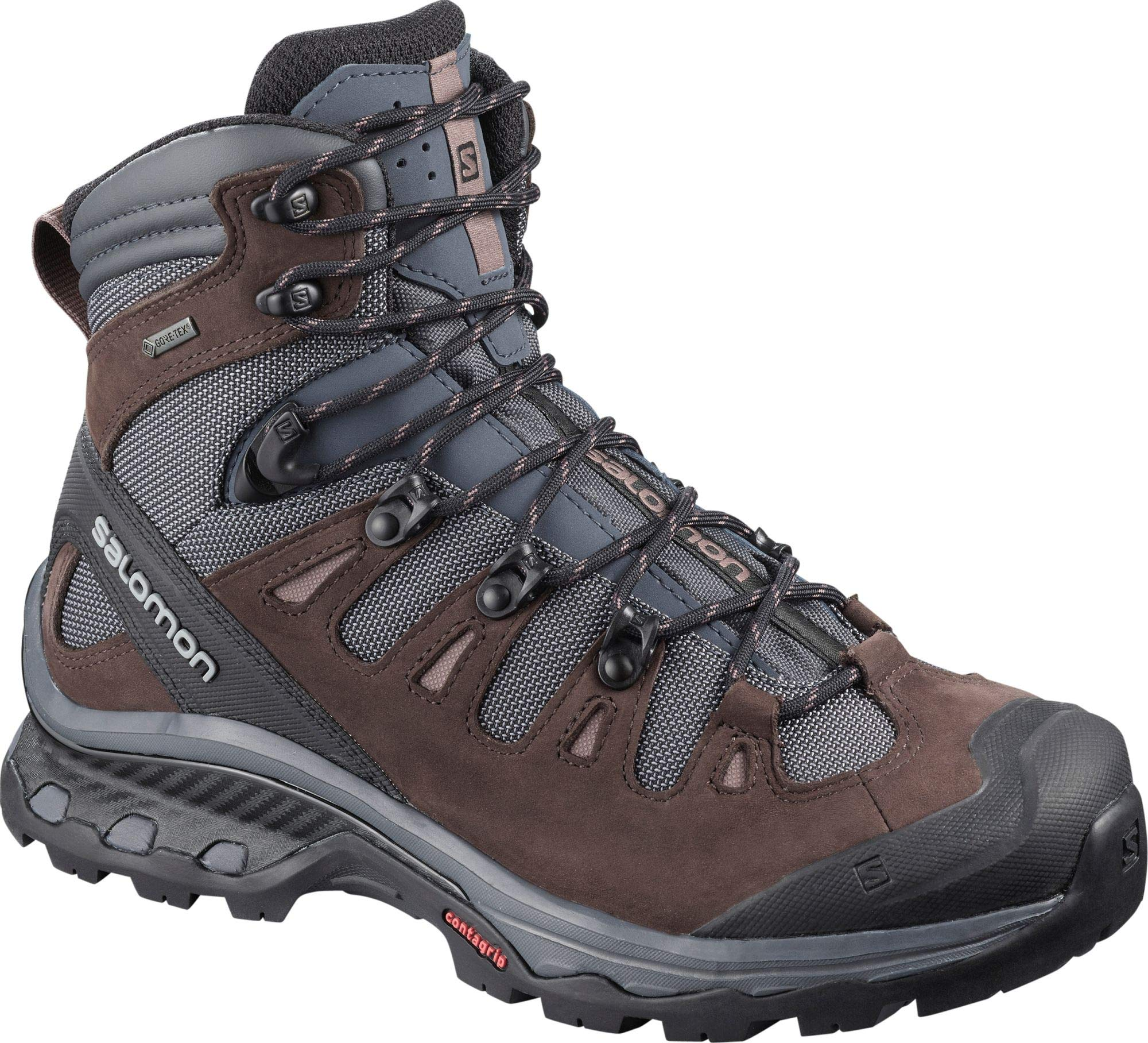 Salomon Women's Quest 4D 3 GTX Backpacking Boots, Ebony/Chocolate Plum/Peppercorn, 9 by SALOMON