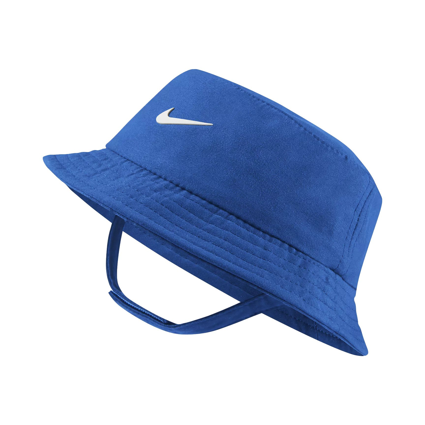 NIKE Dry Infant/Toddler Girls' Bucket Hat (Game Royal (7A2682-U89)/White, 12-24 Months)