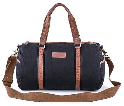 Gootium Canvas Duffel Bag - Classic Duffle Weekender Travel Gym Tote ... a70ffec3b1afe