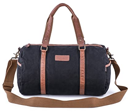 a3b39500ea47 Gootium Duffle Bag - Canvas Travel Duffel Weekender Shoulder Bags Gym Tote