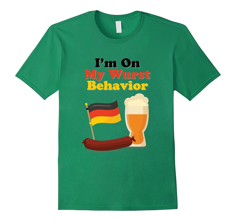 Wurst Behavior Funny German Oktoberfest Beer Brat T-Shirt-TH