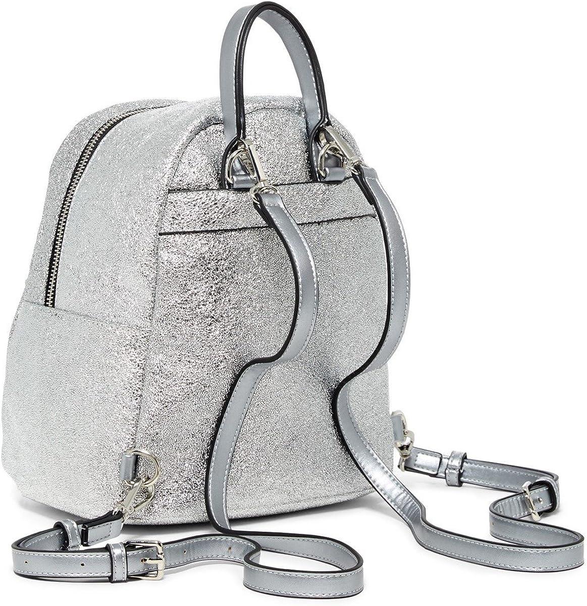 Urban Expressions Vegan Leather Luna Metallic Mid Backpack