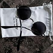 Amazon.com: Laurinny - Gafas de sol polarizadas redondas, S ...
