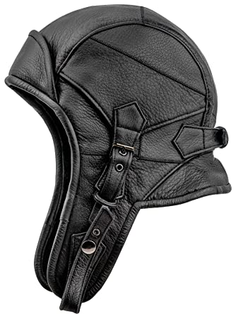 79d5165a06898 Sterkowski Genuine Leather 8 Aviator Helmet Trapper Cap at Amazon Men s  Clothing store