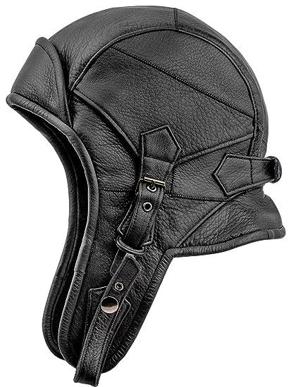 Sterkowski Genuine Leather 8 Aviator Helmet Trapper Cap at Amazon Men s  Clothing store  71c900de792