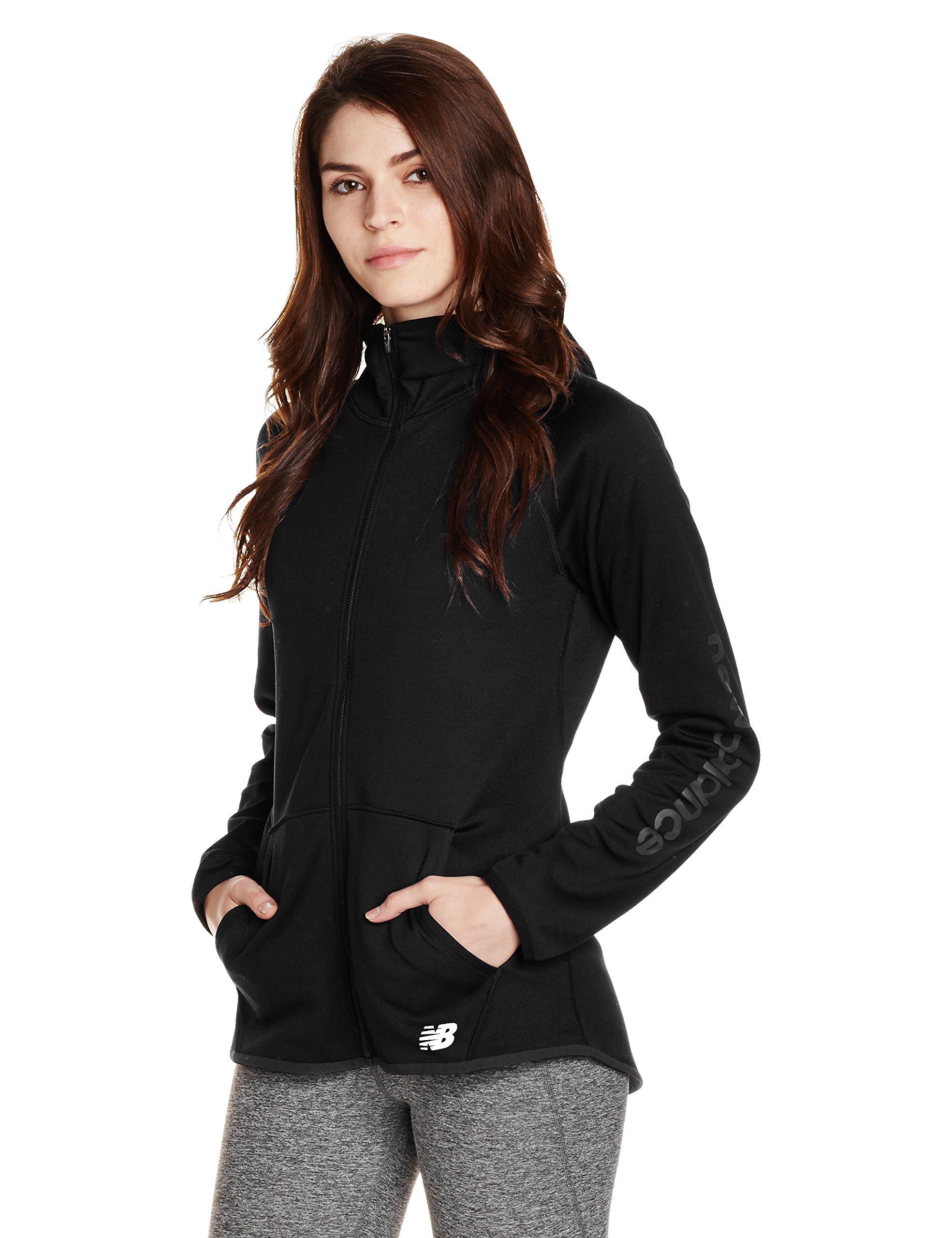 New Balance Womens Nb Core Fleece Full Zip, Black, X-Small