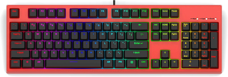 Keycool 104 Hero 2018 Edición limitada Rbg Teclado mecánico para juegos Gateron Marrón Swtiches Gateron Brown Switch